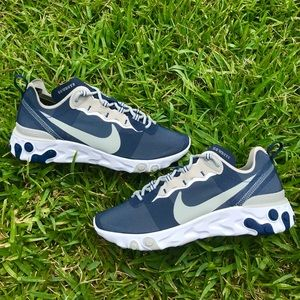 Nike React Element 55 Dallas Cowboys Navy Shoes
